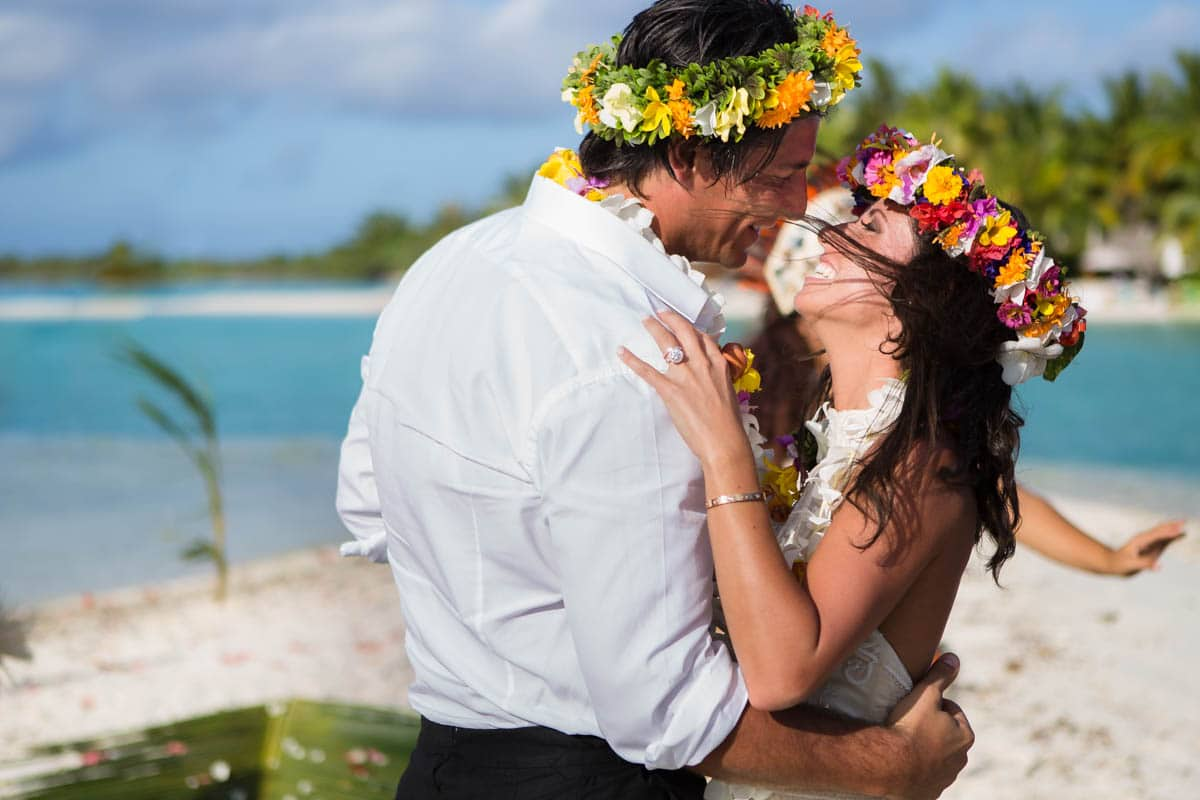Polynesian wedding ceremony