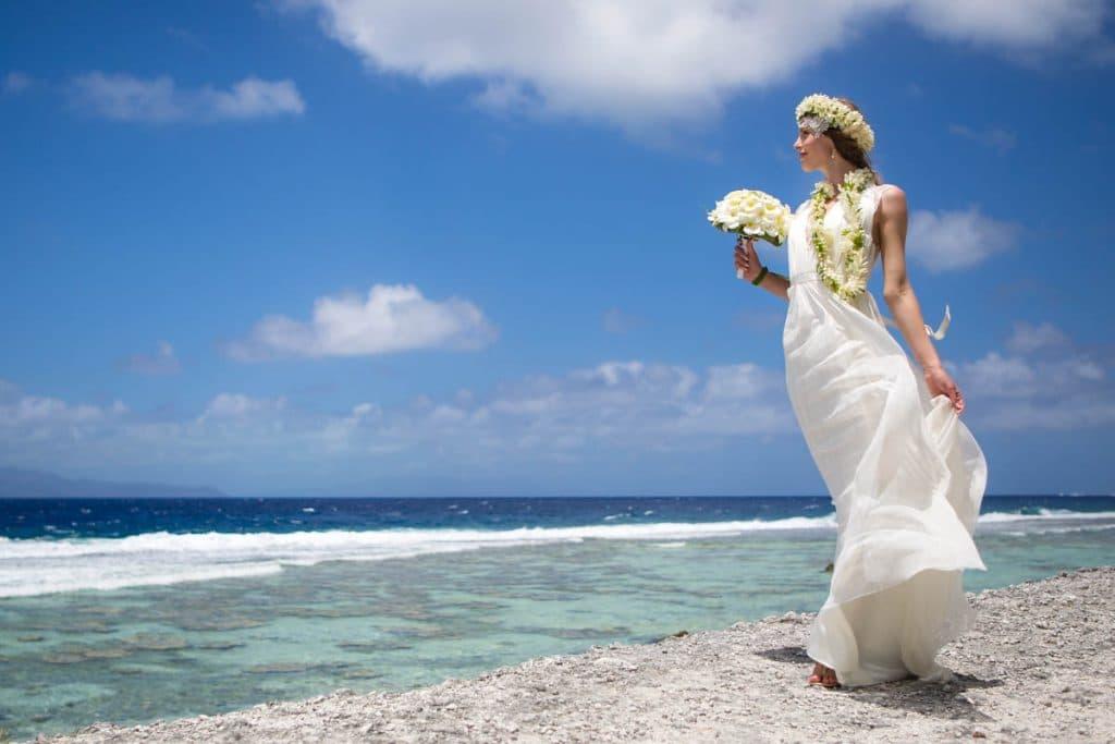Classic western wedding bora bora bride