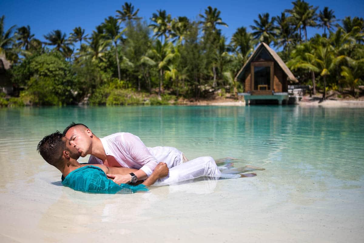 same sex wedding in Bora Bora