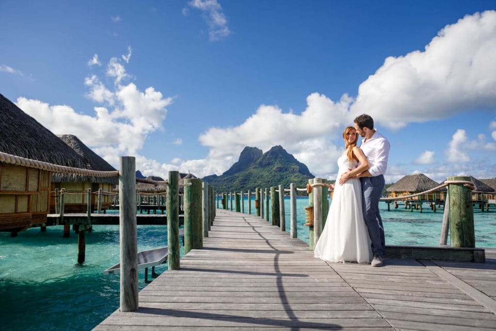 couple at the Bora Bora pearl beach resort