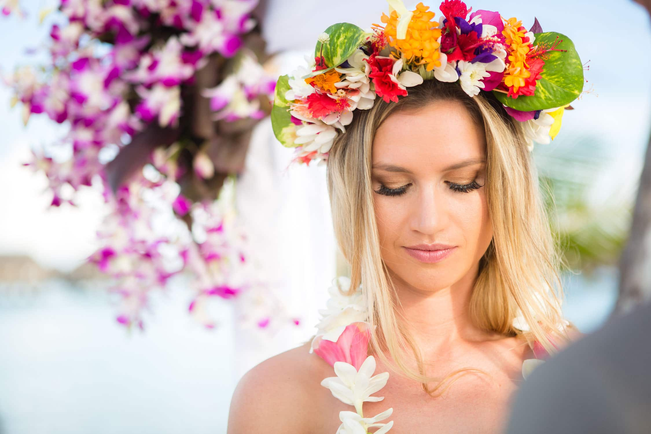 Portrait Bora Bora Bride