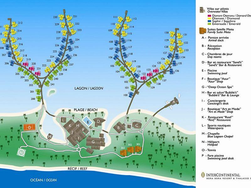 Intercontinental Thalasso Bora Bora Map