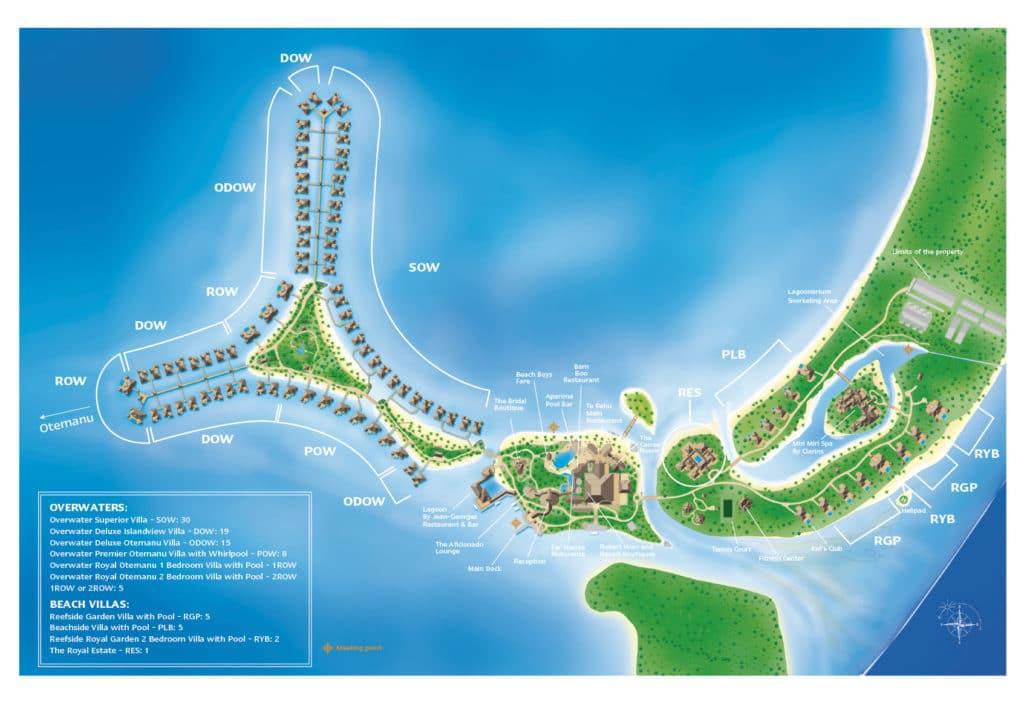 St Regis Bora Bora Map