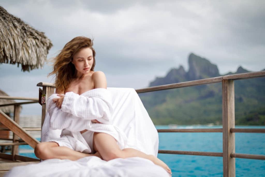 Fashion Portrait photoshoot at the Four Seasons Resort Bora Bora