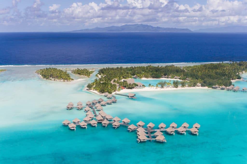 Le Meridien Bora Bora aerial picture