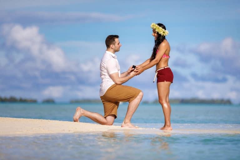 proposal in Bora Bora